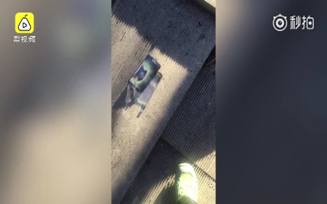 妻子三星手机爆燃 丈夫抢录视频留证据
